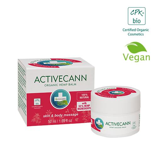 Annabis activecann organische hanfsalbe zur massage